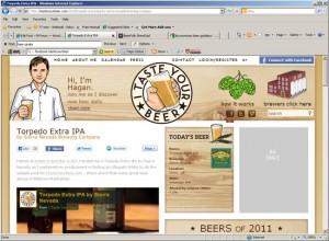 itasteyourbeer.com - demo site, 1/20/2011