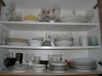 the Plates & Bowls cupboard