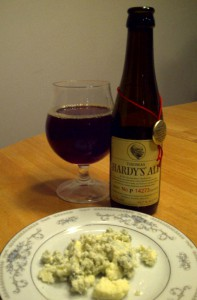 Thomas Hardy's Old Ale (2007) and Blue Cheese Crumbles