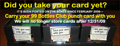 Card Dex, storage ceased 12/31/09