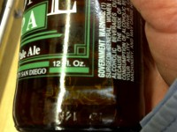 Examine beer for freshness date: Some can be faint and hard to read; others may be in code