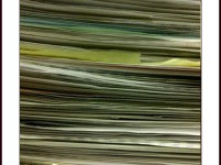 The joy of bookkeeping: A stack ready for data entry
