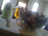 Wheat beer & salad
