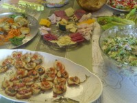 Party Spread, with Chopped Pizza Salad
