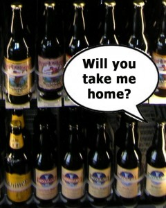 Lone bottles wait for buyers