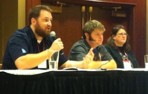 #BeerBloggers networking with breweries, distributors & retailers panel: Jay, Randy, and Tiffany