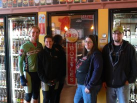 Tiffany with C & the foodcyclists: 2011, at the beer store