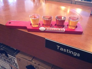 Flight of Four, tasting paddle