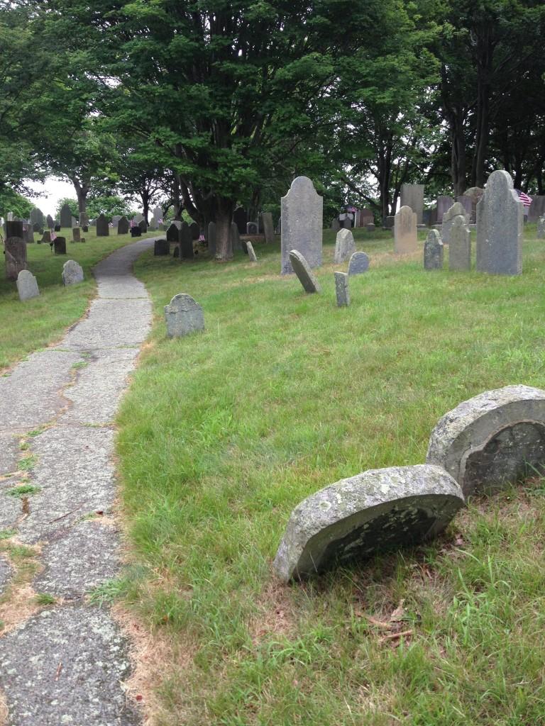 tippy gravestones & rustling trees
