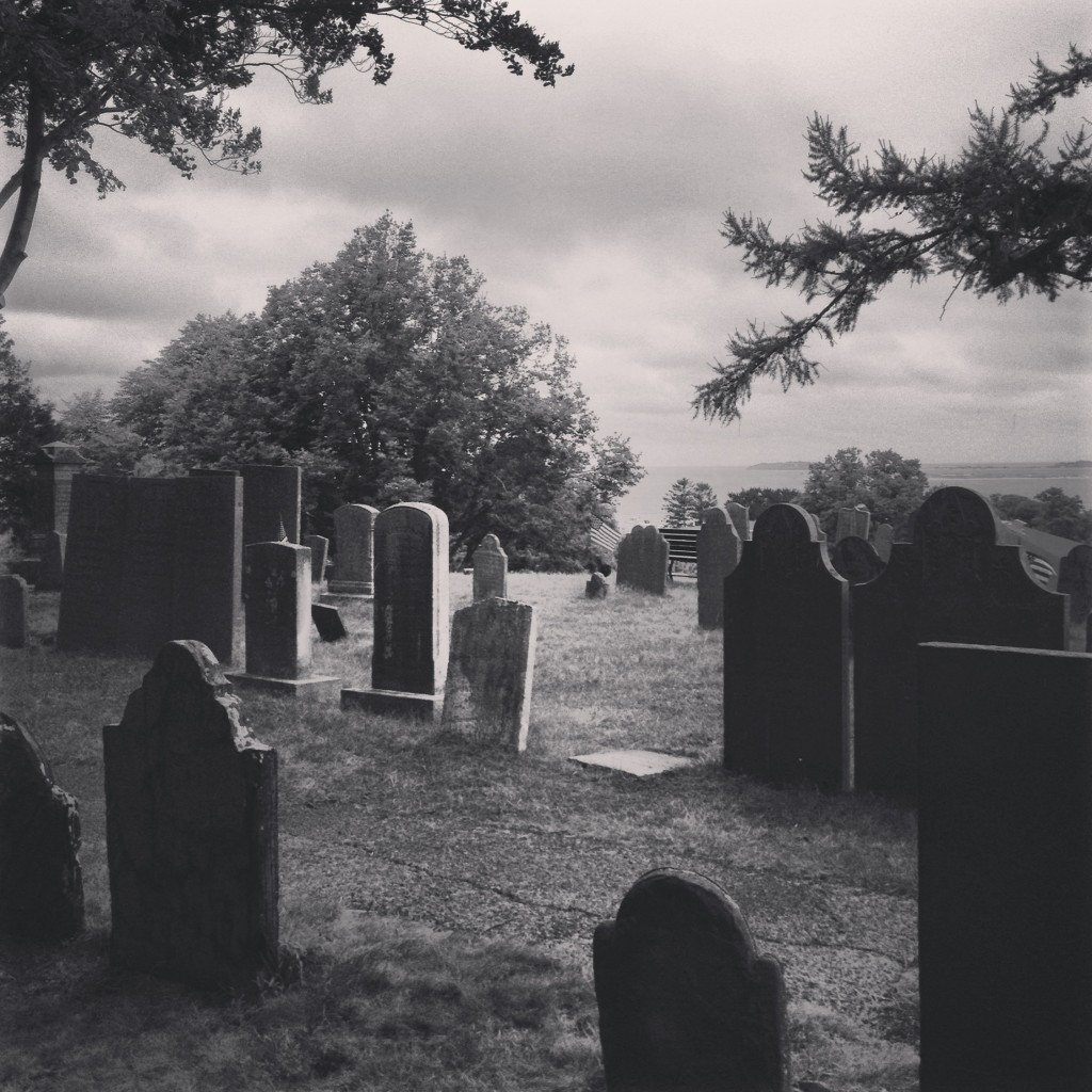 black & white makes graveyards extra creepy