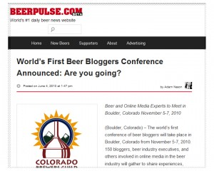 Beer Bloggers Conference Announcement - 1st conference