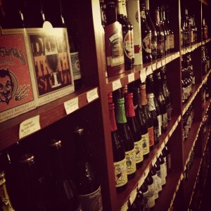 shelves of beer