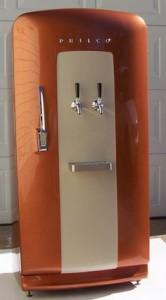 Classic refrigerator converted into a kegerator